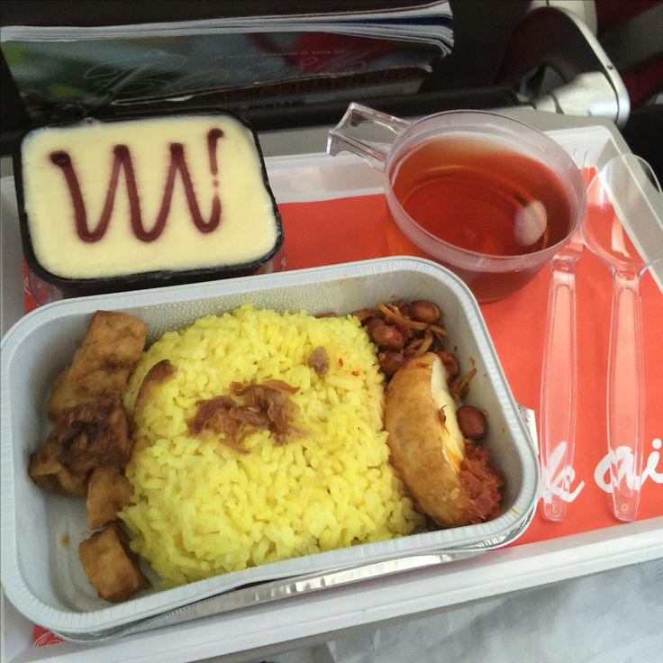 Menu : Yellow Turmeric Rice with chicken & egg  from Batik Air, route from Jakarta to Kuala Namu, Medan. This photo was taken on 26 August 2015.
