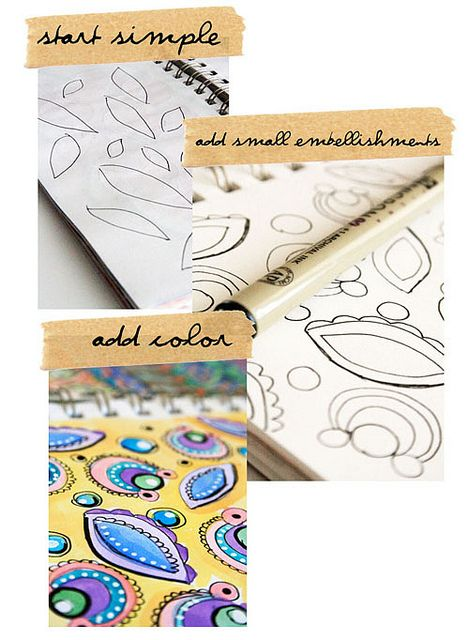 Doodles (can be drawn on many different DIY projects)