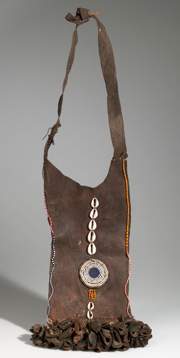 Africa   Apron from the Pokot (Suk) people of kenya   Leather, shell, hair, claw, pigment   2nd half 20th century