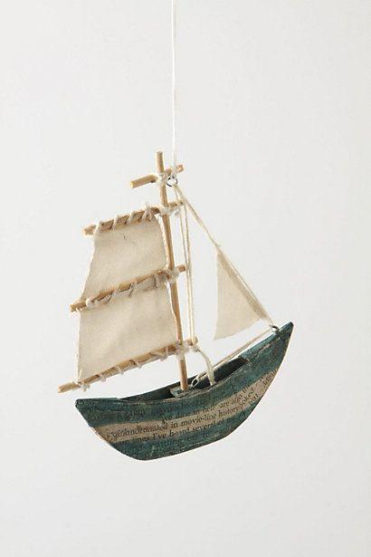 sea story sailboat ornament