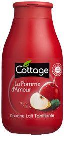 Cottage, Douche lait Pomme d'Amour, Douche lait Tonifiante à la Pomme d'Amour, Produit pour le corps, Produit pour le bain