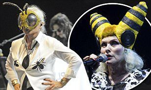 Debbie Harry took to the stage at theBrixton Academy in London on Friday night, wearing a unique bumble bee costume which stemmed from her recent beekeeping passion.