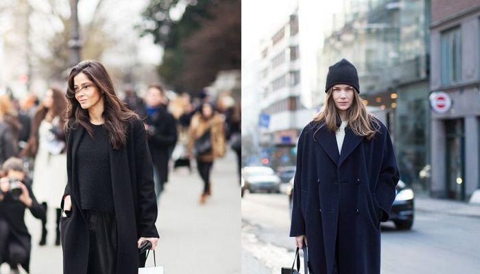 Готический черный: 8 интересных образов с черным пальто