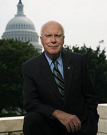 Patrick Leahy, the senior United States Senator from Vermont and member of the Democratic Party. He is the first and only elected Democratic Senator in Vermont's history. He is the chairman of the Senate Judiciary Committee. Leahy is the second most senior U.S. Senator, and second longest-serving Democrat in the U.S. Senate, following Hawaii Senator Daniel Inouye, having served since 1975.