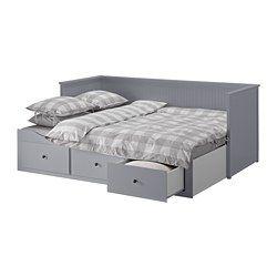HEMNES Tagesbettgestell/3 Schubladen, grau - IKEA