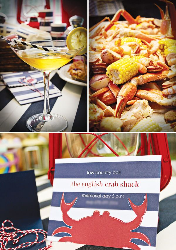 {Americana Style} Nautical Low Country Boil Party // Hostess with ...