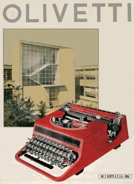 Olivetti vintage . La Valentine, je l'ai toujours.