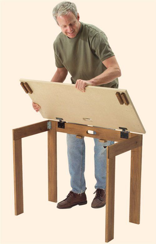 Build Drafting Table Wood