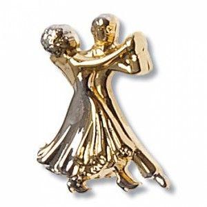 Diamant - Brosche [Gold] [2 cm x 1,5 cm]