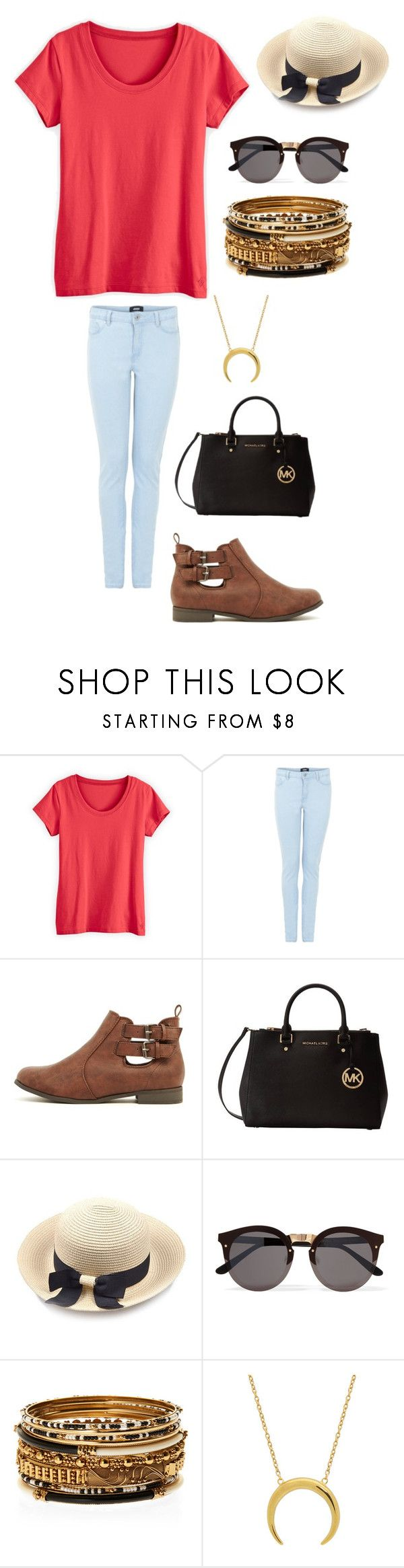 """""""Untitled #4329"""" by kaitoven on Polyvore featuring Michael Kors, Illesteva and Amrita Singh"""