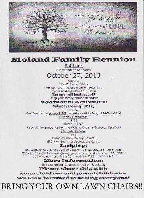 family reunion invite www.bepresentbereal.blogspot.com