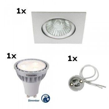 Stunning LED Einbaustrahler W dimmbar SET mit W ud W Toshiba LED Einbauring und Sockel