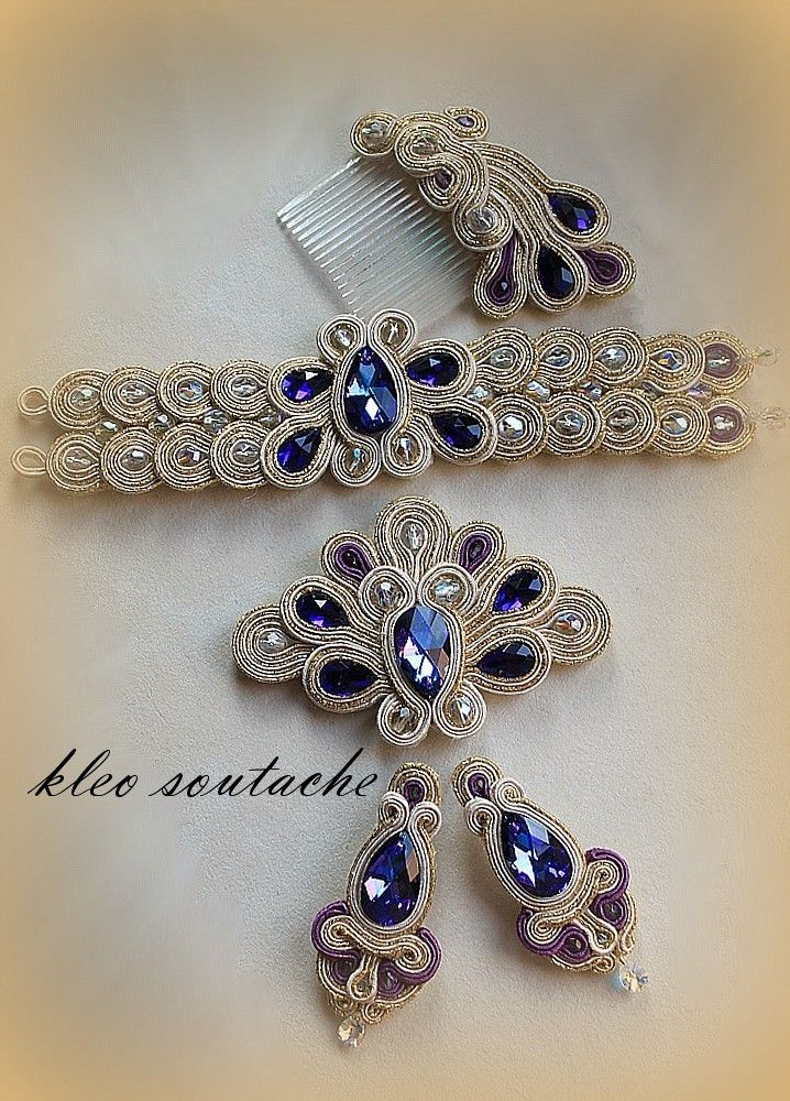 Definitely could be your something blue. I'm old fashioned and like the something old, blue, and borrowed.  Kleo treccia / soutache gioielli