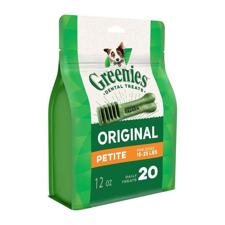 Greenies Dental Dog Treats, Petite, Original Flavor (20 Treats, 12 Ounces). Gree