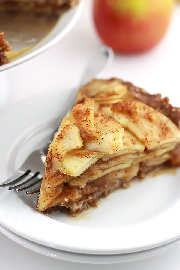Raw Salted Caramel Apple Pie - Made From Pinterest