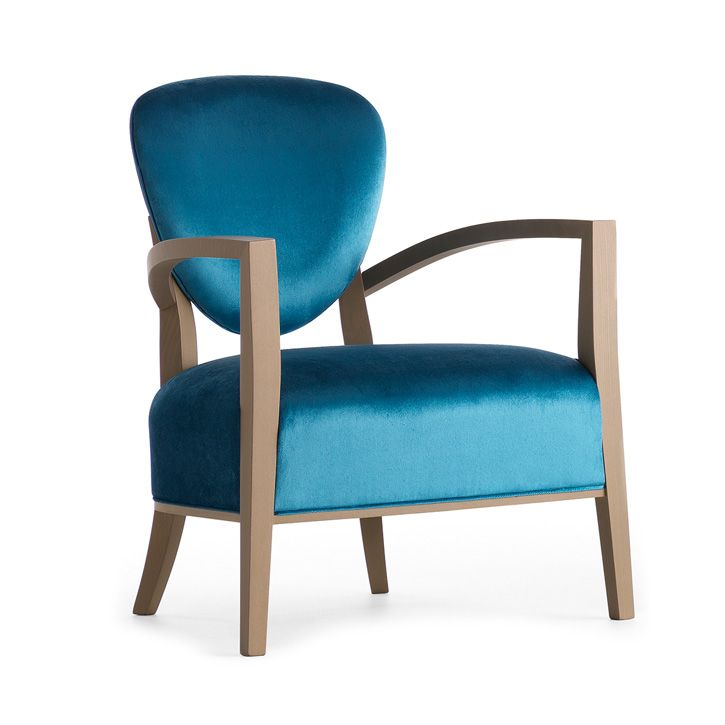 Lounge Chair In Solid Wood Frame With Plywood Back Panel.