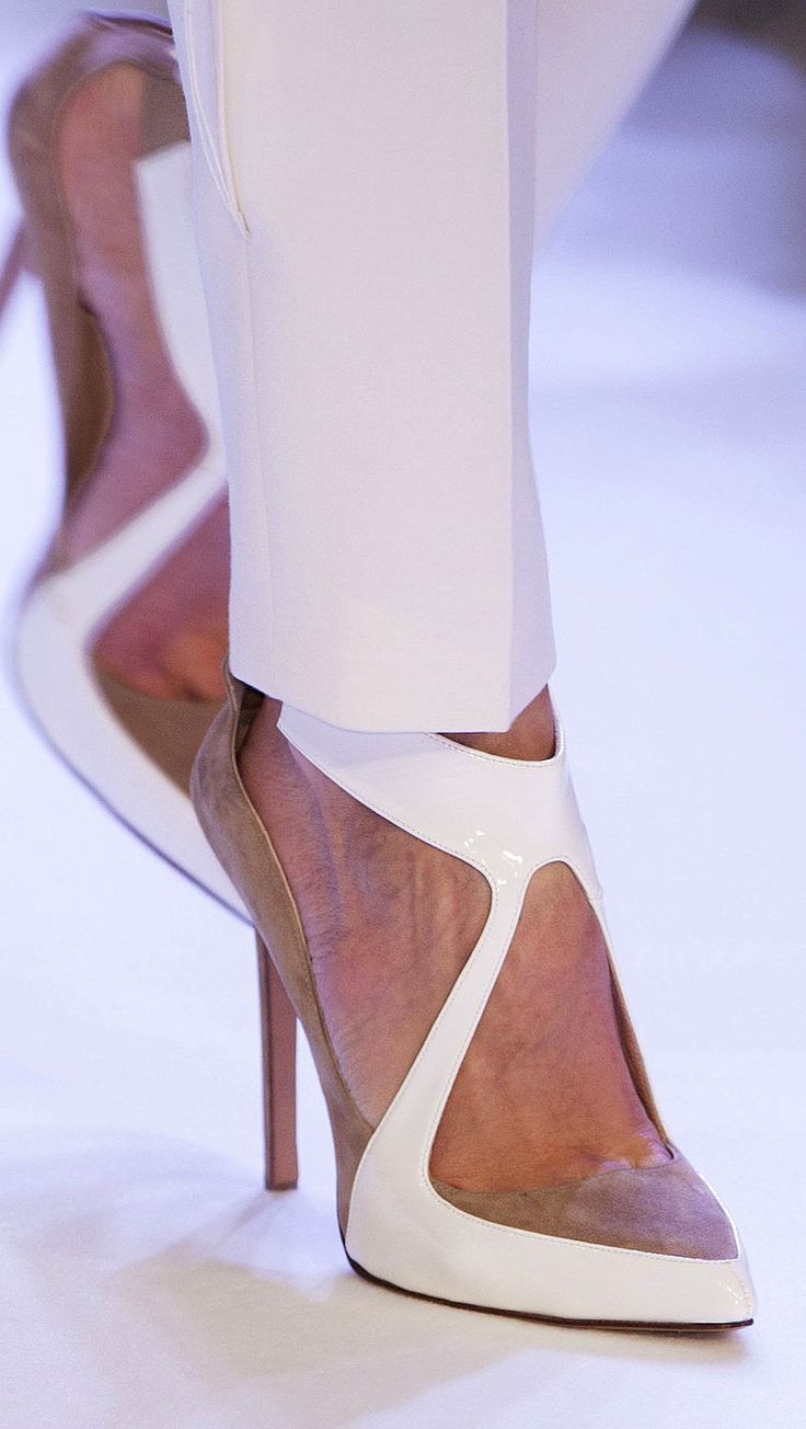 #BAGS,Pretty shoe for my shoe obsessed friends. Couture Spring 2014 - Stéphane Rolland #sexyshoes