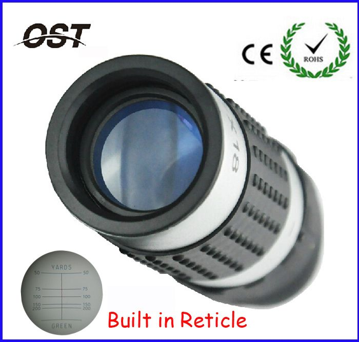 7X18 mini Pocket HD blue film Golf Monocular Telescope Rangefinder binoculars GM018 With Reticle for golf Free Shipping