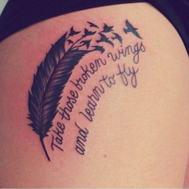 #take #these #broken #wings #and #learn #to #fly #feather #feathertattoo #birds…