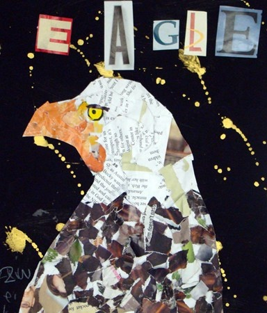 "From exhibit ""Bald Eagle Paper Collage"" by Zuleika6"