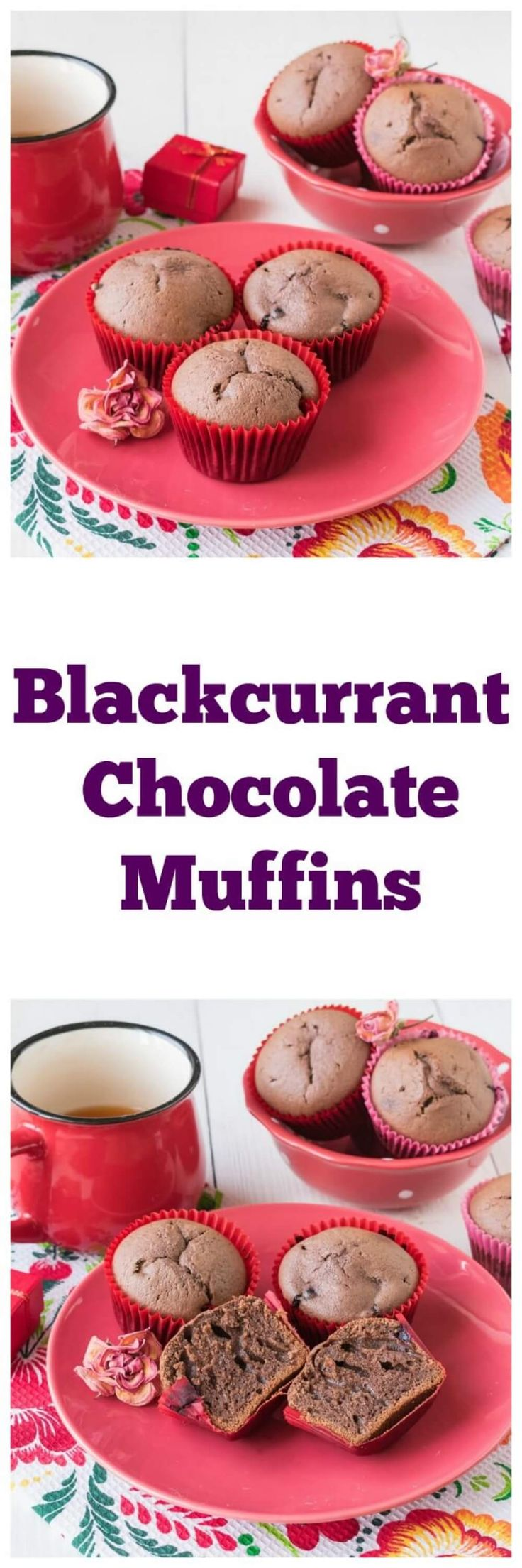 Blackcurrant Chocolate Muffins