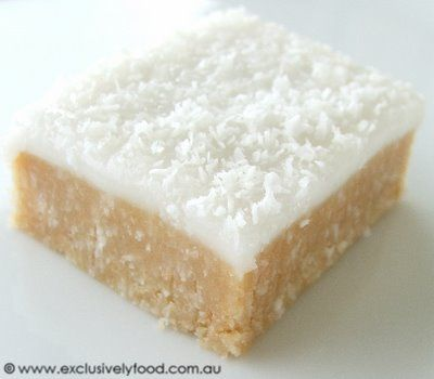 This quick and easy no-bake slice has a moist, coconutty base and a soft, sweet lemon icing. It is finished with a sprinkling of coconut. ...