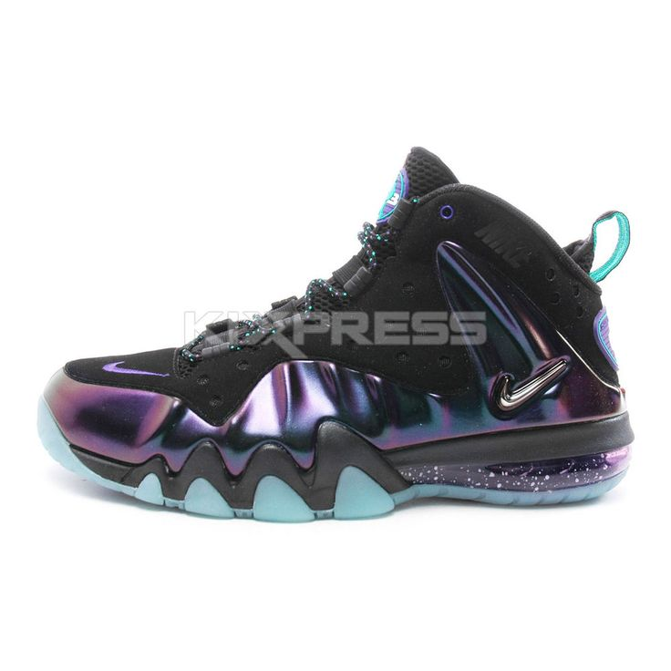 Nike Barkley Posite Max [555097-003] NSW Glow In The Dark Black/Eggplant US  6.5