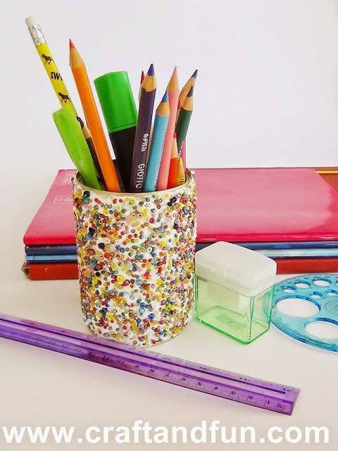 Back-to-school - DIY Pencil Holder with recycled Tin Cans #tutorial