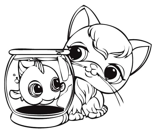 Funny And Cute Littlest Pet Shop Coloring Sheet For Kids Little Pet Shop Coloring Books Coloring Pages