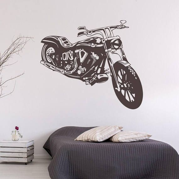 Harley Davidson Wall Sticker, Motorcycle Wall Decal Decor, Garage Wall  Sticker Removable Vinyl Wall Part 36