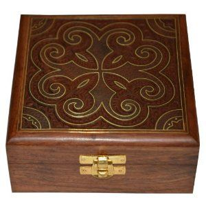Jewelry box is an essential component of a woman's make up kit. The usual shape is rectangular, but the box sometimes squre too. These Jewelry boxes are also used to keep valuables in, and are some times beautifully painted, carved or inlaid with motifs. A variety of floral patterns, human figures, and architectural boat and cart motifs have been used to embellish Jewelry boxes, employing the techniques of enamel painting, repousse or engraving, and golden wire inlay work.