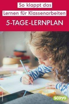 Der 5-Tage-Lernplan: So klappt das Lernen für Klassenarbeiten