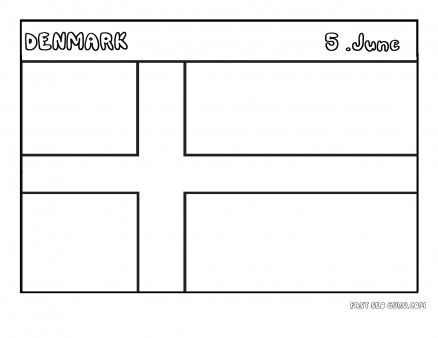 Printable flag of denmark coloring page - Printable Coloring Pages For Kids