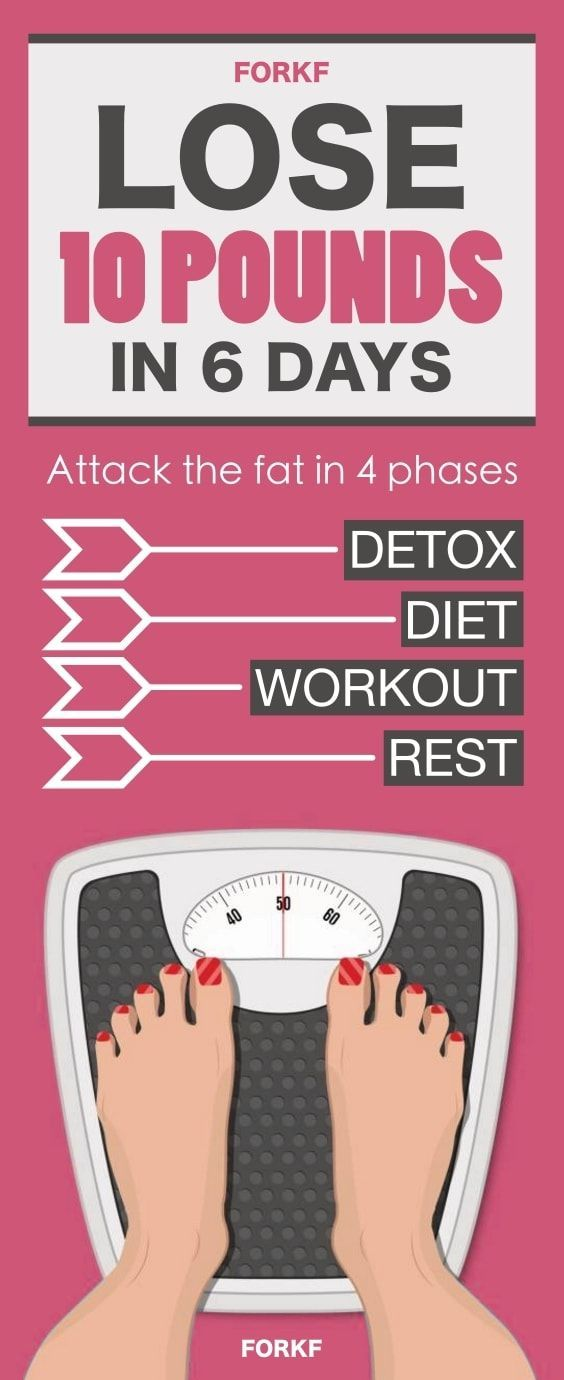 How to lose 10 pounds in 6 days