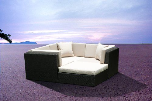 Outdoor Patio Wicker Furniture Sofa Sectional 4pc Resin Couch Set Mango Home