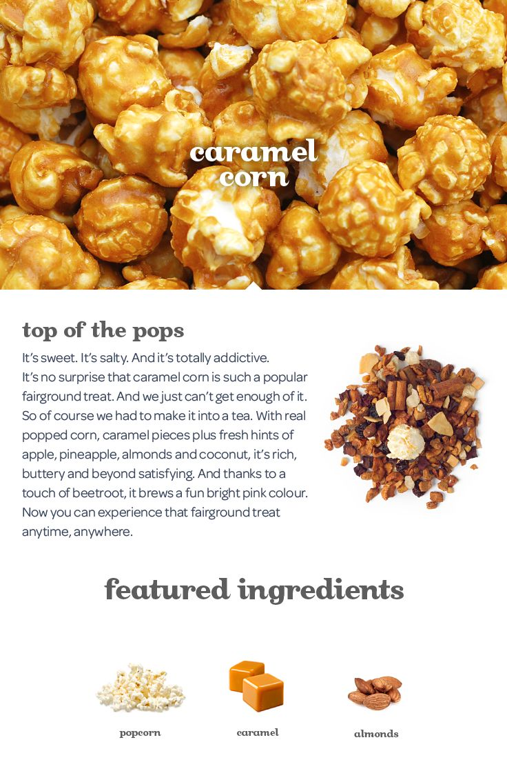 Everyone's favourite fairground snack, with a hint of fruit and coconut... in tea form!!