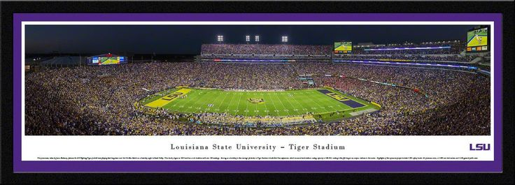 Louisiana State University Tigers Panoramic Picture - LSU Tiger Stadium- Football