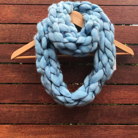Blue limited edition handmade super chunky by ElvieWithLove