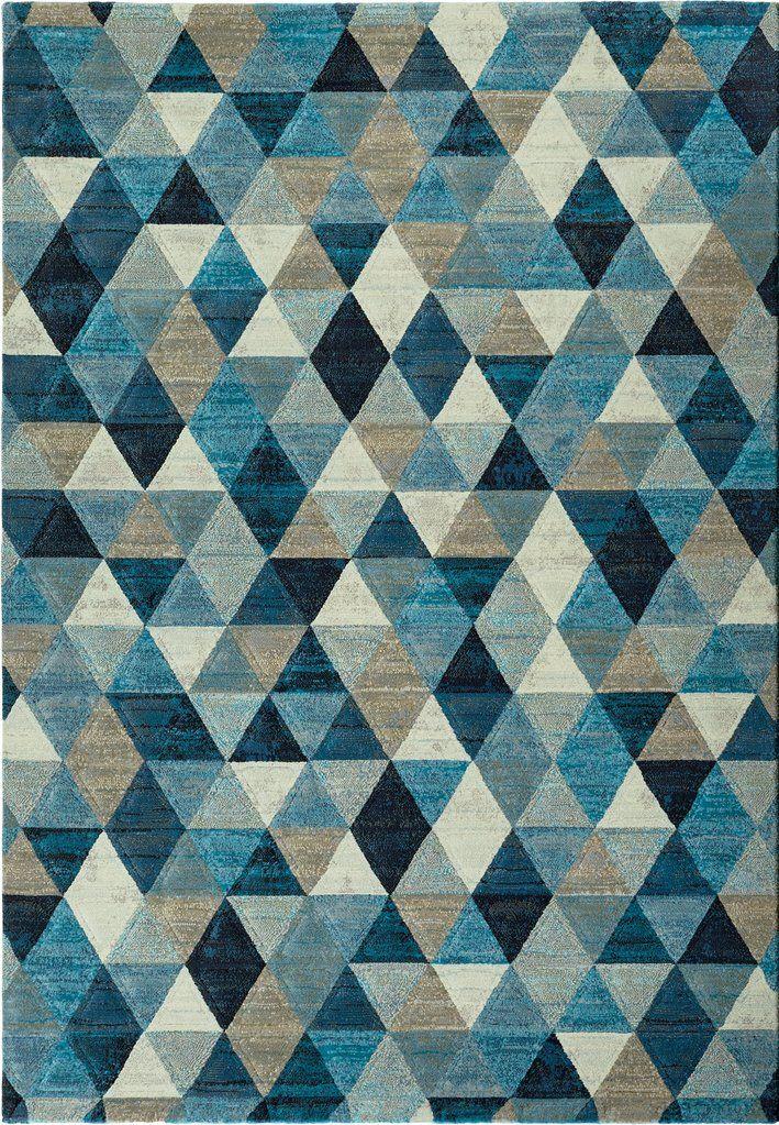 Laguna Geometric Blue Grey Multicoloured Rug By Sitap Multicoloured Rug Blue Carpet Bedroom Buying Carpet