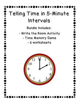 Telling Time to the Nearest 5 Minutes Bundle Resource Pack