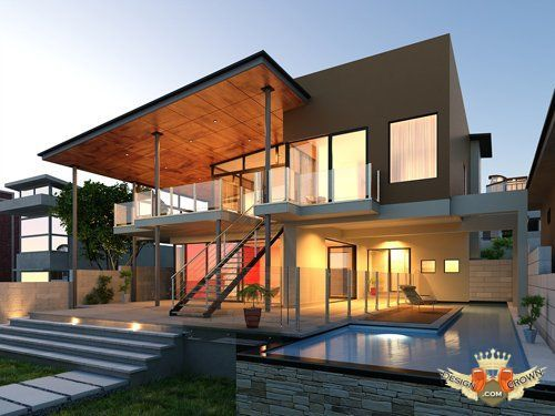 Creative Design Architecture | Creative architecture 3d model and textures for design in 3d max ...