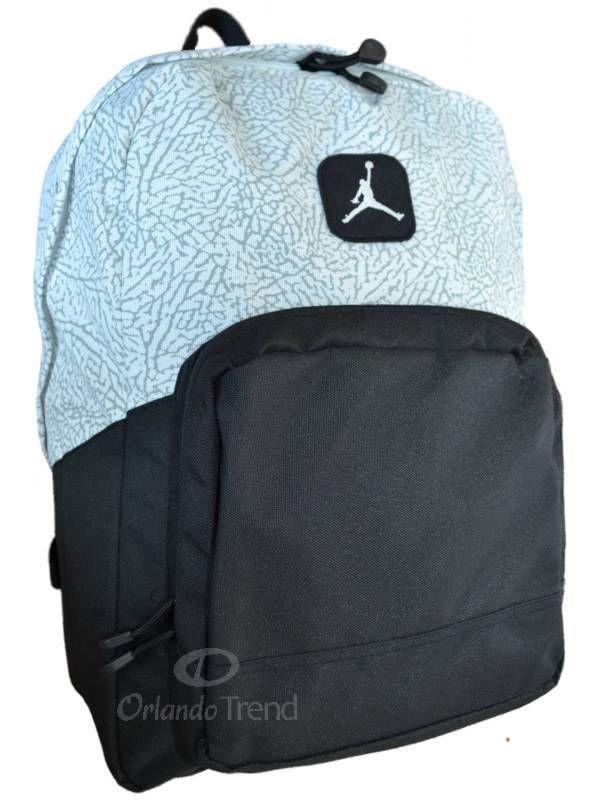 2807b0cc49 Nike Air Jordan Backpack Black Gray Elephant School Book Bag Men Women Boys  Girl in 2019