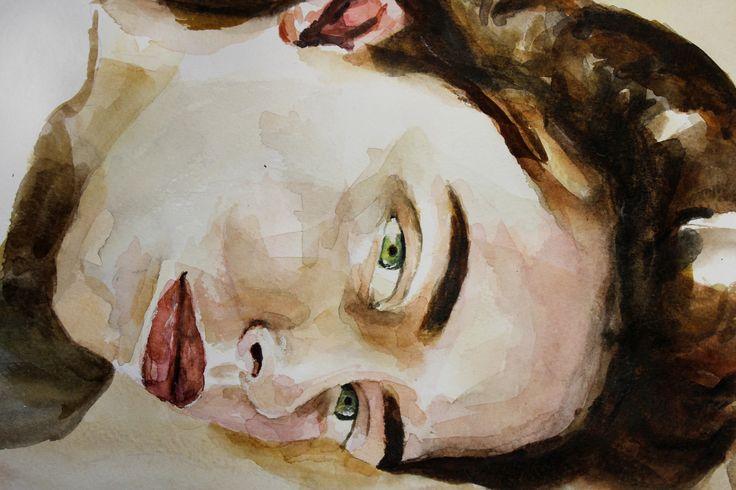 #art #print #portrait #watercolor #color #painting #littlegirl #girl #sketch #impression #original #sigth #взгляд #принт #портрет #акварель #живопись #принт #цвет