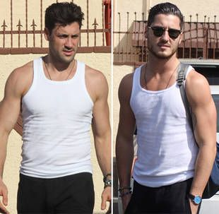 Maksim Chmerkovskiy and Val Chmerkovskiy at the DWTS Studios in LA - Splash News