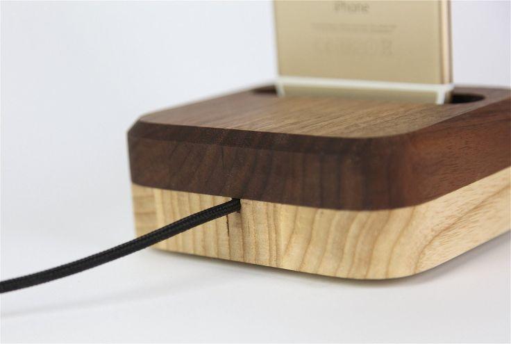 Choose your wood. Wooden Dock for iPhone.  Wooden iPhone Dock | Lastu | Tech Meets Nature  www.lastucase.com