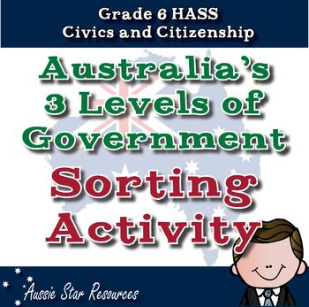 Grade 6 HASS  3 Levels of Australian Government  Sorting Activity  Year level: SixAustralian Curriculum Content Descriptor:  ACHASSK143  The key institutions of Australias democratic system of government and how it is based on the Westminster system. ACHASSK144 - The roles and responsibilities of Australias three levels of government.This resource will help your students engage with their Civics and Citizenship lesson on the 3 levels of Australias Government.