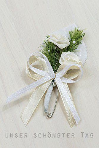 10 x Hochzeitsanstecker Gästeanstecker Anstecker Hochzeit AS0007 creme: Amazon.de: Küche & Haushalt