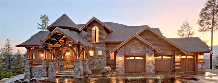 brown hardie plank siding with rock on homes | Vail Colorado Siding Installation | Colorado Siding