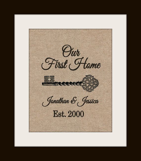 Personalized Housewarming Gift on Burlap, Home Address Sign, New House Gift, First Home, Burlap Print
