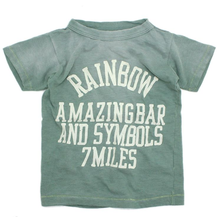 GO TO HOLLYWOOD(ゴートゥーハリウッド):ビンテージテンジク RAINBOW Tシャツ 9KHカーキ の通販【ブランド子供服のミリバール】